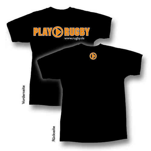 "T-Shirt ""PLAY RUGBY"" (schwarz)"