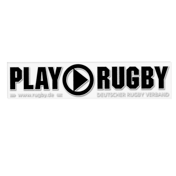 "Aufkleber ""PLAY RUGBY – BUTTON"""